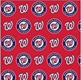 Fabric Traditions Red/Blue MLB Cotton Broadcloth