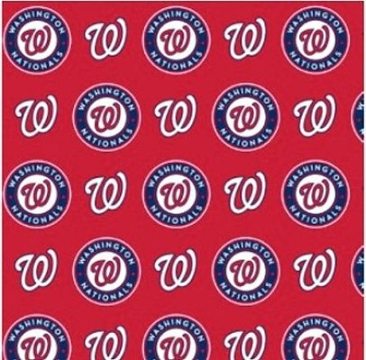 Fabric Traditions MLB Cotton Broadcloth Washington Nationals Red/Blue Fabric by The Yard, ()