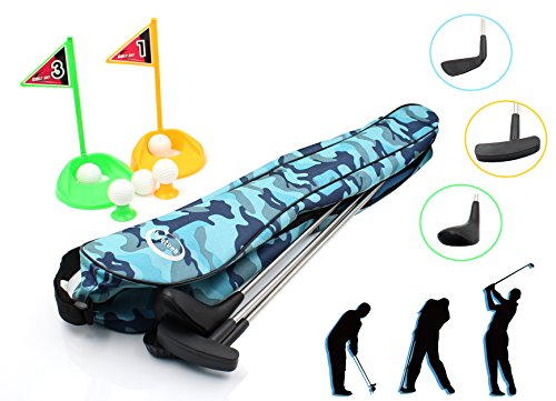 heytech Kid's Toy Golf Clubs Set Deluxe Outdoor Golf Toy (Toy Golf)