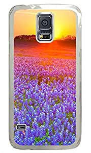 Samsung Galaxy S5 The Sunset Purple Flowers PC Custom Samsung Galaxy S5 Case Cover Transparent by icecream design