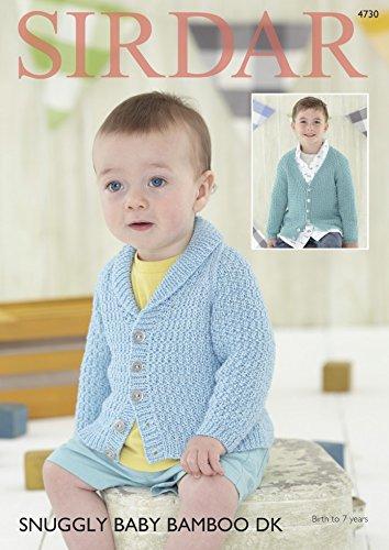 c6de9010f Sirdar Baby   Boys Cardigans Baby Bamboo Knitting Pattern 4730 DK ...