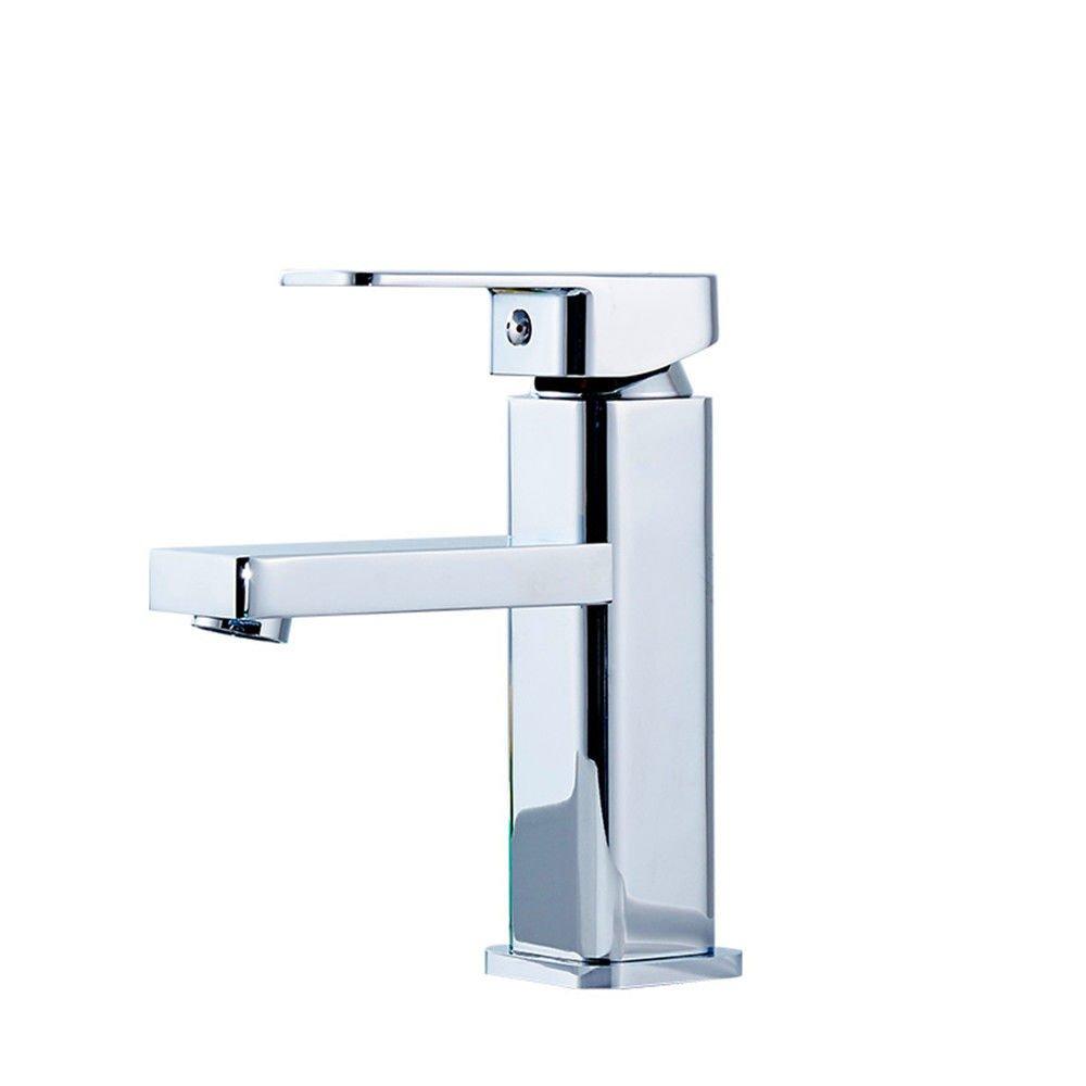 Wc-Armatur Spüle Waschbecken Mischbatterie für warmes und kaltes Wasser Kupfer niedrig Beruf Weiß verbreitet
