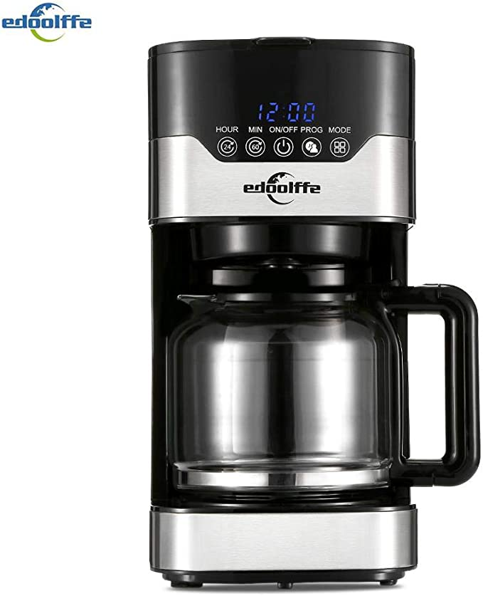 Edoolffe md-259t cafetera inteligente programable goteo cafetera ...