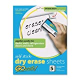 Wholesale CASE of 25 - Pacon Adhesive Dry Erase Sheets-Dry-Erase Sheets, Adhesive, 8-1/2''x11'', 5SH/PK, White