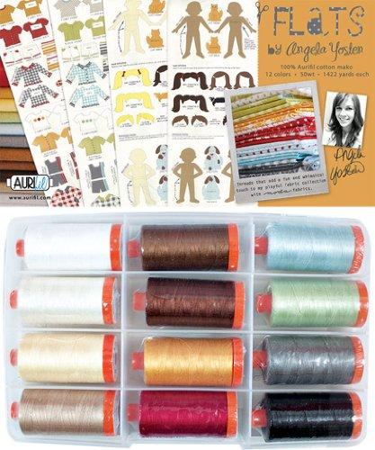 Aurifil Thread Set FLATS by Angela Yosten 50wt Cotton 12 Large Spools 1300M each by Aurifil