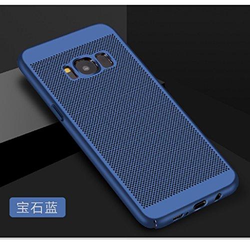 Funda Samsung Galaxy S8,Alta Calidad Ultra Slim Anti-Rasguño y Resistente Huellas Dactilares Totalmente Protectora Caso de Plástico Duro Case,Cuadrícula Disipación de calor Antideslizante Cover(YQ5-7) D