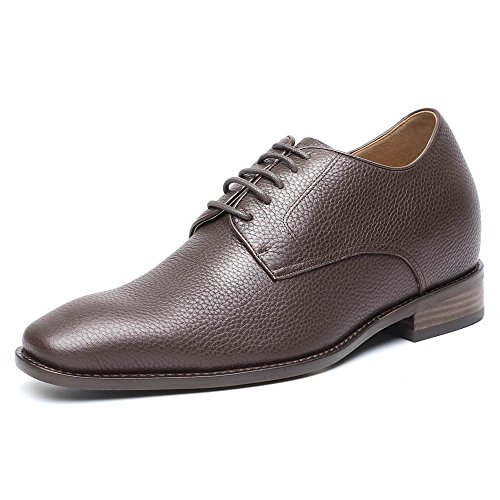 CHAMARIPA Mens Height Increasing Derbies Shoes High Heel Formal Dress Shoes to Look Taller/2.76 inches H81K65X092D Brown Leather 7DnkHV