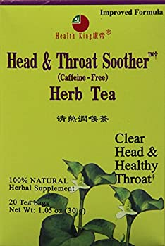 Health King  Head & Throat Soother Herb Tea, Teabags, 20 Count Box