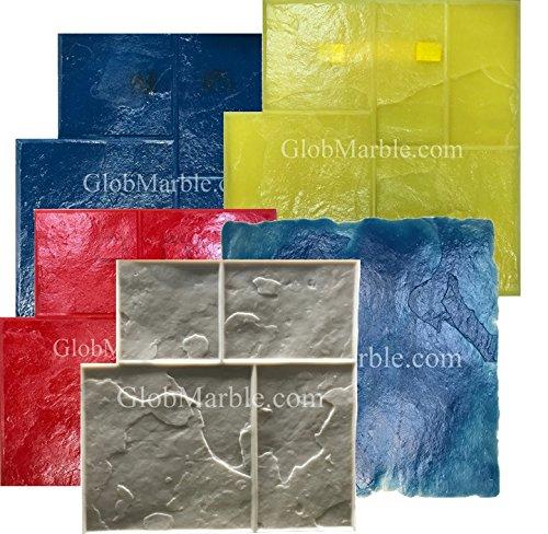 GlobMarble 5 Piece Ashlar Slate Stone Stamp Set SM 3003