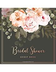 Bridal Shower Guest Book: Vintage Flowers Decorations | Sign in Guest Book | Write in Name Advice & Wishes Comments | Memory Message Book | Gift Recorder | Parties & Receptions