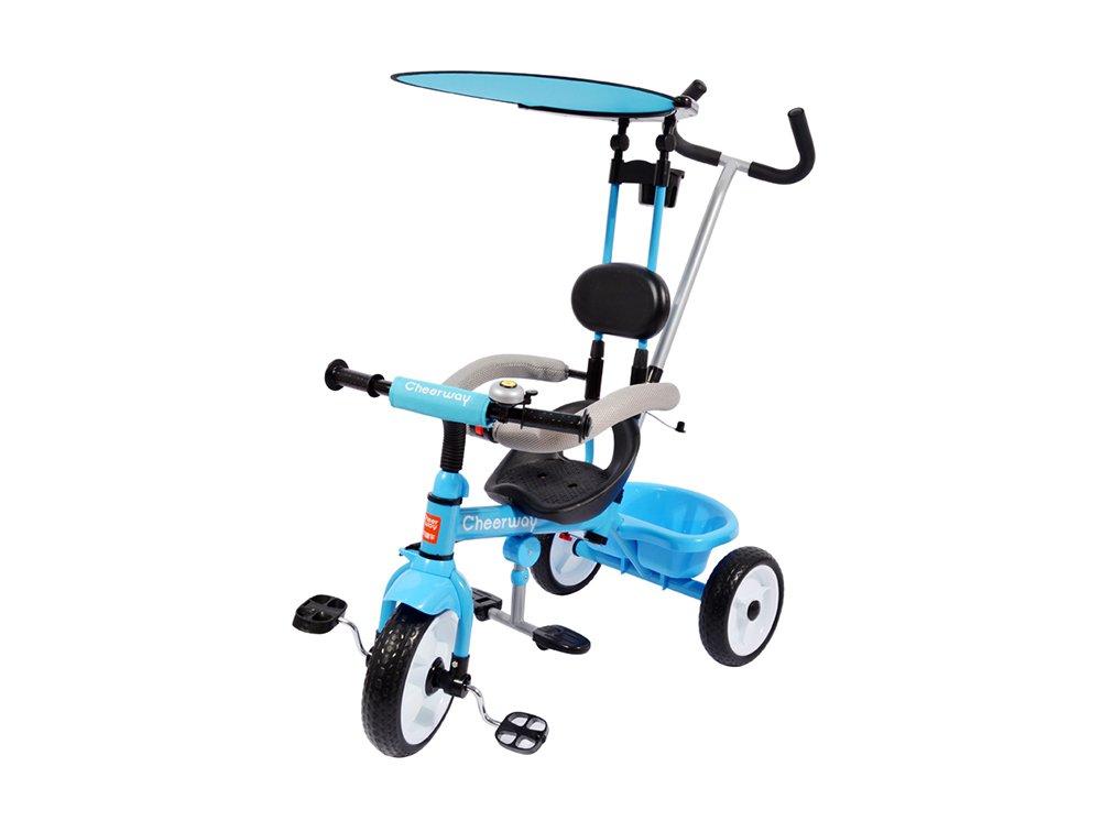Dreirad, Kinderwagen Kinderwagen Vielseitig 1,5-5 Jahre alt Kinder Kind Wagen Rad Fahrrad Familie Portable 74  56  91 cm ( Farbe   Blau )