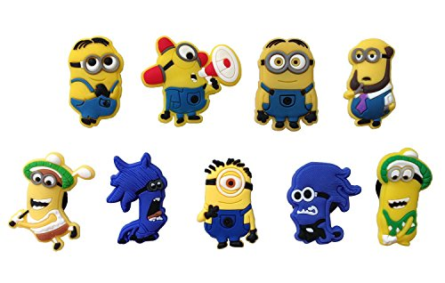 Despicable Me Shoe Charms 9 Pcs Set #2 by Atlantis USA (Despicable Me Shoes)