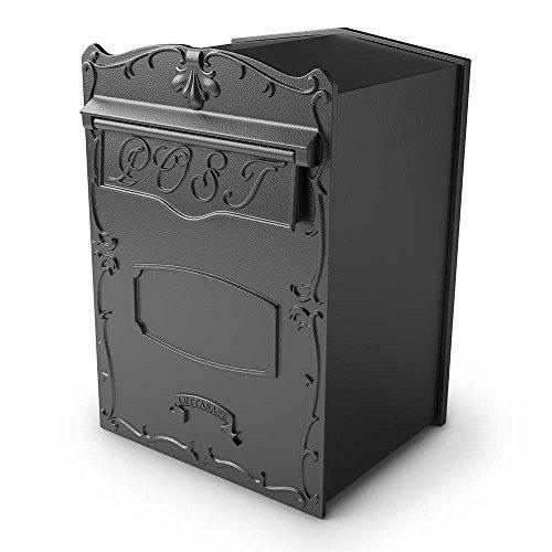 Qualarc LSF-LS01 Kingsbury Secure Rear Access Locking Mailbox Large Capacity for Masonry Walls, Columns Or Wood Fences, -