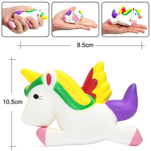 OYE HOYE 4PCS Jumbo Squishies Slow Rising Squishy Toy Set Scented Galaxy Tooth Cute Unicorn Set Charms Stress Reliever for Kids Adult by OYE HOYE (Image #6)