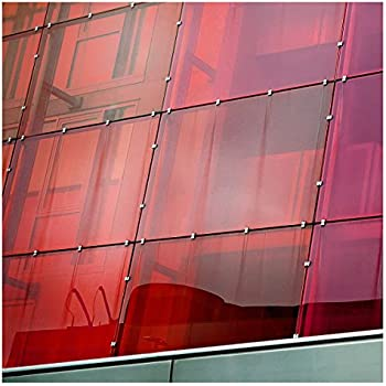 Transparent Colourful Window Film Self-Adhesive Optically Clear Red Tint
