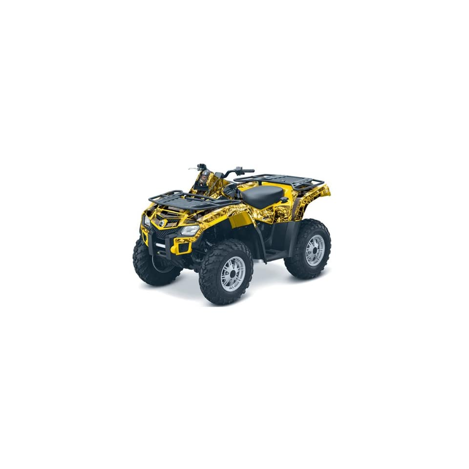 AMR Racing Can Am Outlander 800 EFI ATV Quad Graphic Kit   Mad Hatter Yellow & Black
