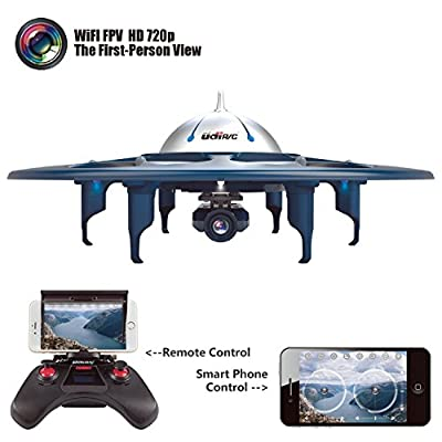 YANNI U845 Voyager Wifi FPV 2.4Ghz RC Headless Quadcopter Drone UFO with 720P HD Camera, Ios and Android Phone Control - Blue from Yanni