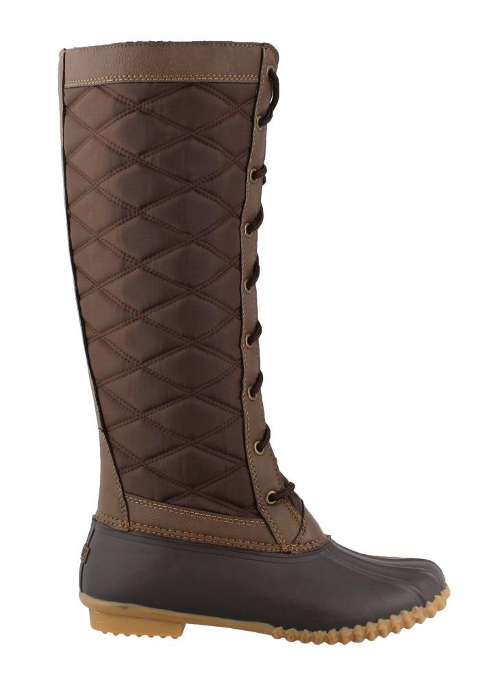 JBU Womens Etna Rubber Closed Toe Mid-Calf Cold Weather Boots, Brown, Size 7.5