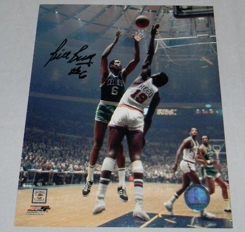 BILL RUSSELL AUTOGRAPHED SIGNED BOSTON CELTICS 8x10 PHOTO VS WILLIS REED - Autographed NBA Photos - Bill Russell Signed Photograph