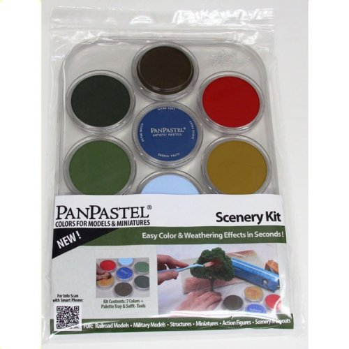 Colorfin PanPastel Ultra Soft Artist Pastel Set, 9ml, Scenery, 7-Pack