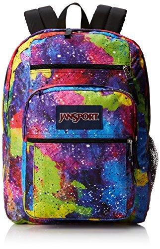 JanSport Big Student Backpack - Multi Neon Galaxy / 17.5H x 13W x 10D Color: Multi Neon Galaxy Model: TDN7ZF6