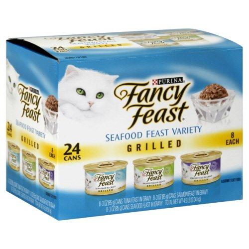 Fancy Feast Cat Food, Gourmet, Grilled, Seafood Feast Variet