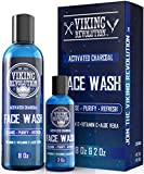 Charcoal Face Wash for Men- Scrub Away Dirt and Toxins - Cleanse, Purify and Refresh - Daily Charcoal Facial Cleanser