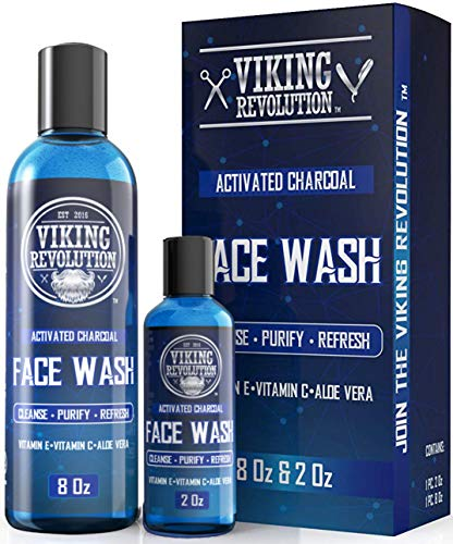 Charcoal Face Wash for Men- Scrub Away Dirt and Toxins - Cleanse, Purify and Refresh - Daily Charcoal Facial Cleanser (Best Face Cleaner For Men)