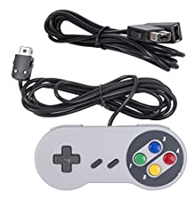 Mario Retro SNES NES MINI 2017 Edition Controller - With 6ft Extend Link Extension Cable For Nintendo Mini NES Classic Edition-Compatible 2016 NES Classic Mini Version-Top Wired Joypad & Gamepads Controller With 1.8m Cable