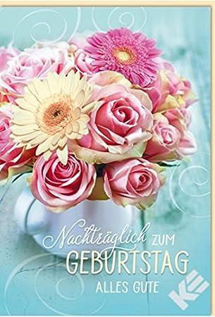 Karte Nachtraglich Zum Geburtstag Alles Gute B6 Umschlag