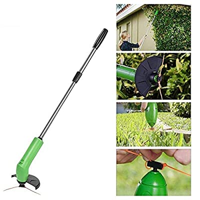 Rishx Cordless Weed Trimmer Edger,Safety Portable Extendable Trimmer with Protective Shield Multifunctional Garden Manual Weeder