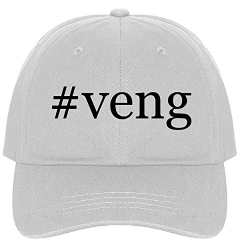 The Town Butler #Veng - A Nice Comfortable Adjustable Hashtag Dad Hat Cap, White