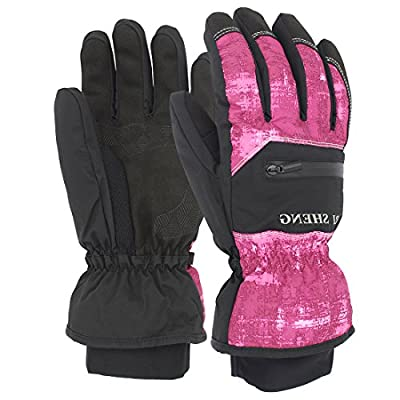 SHARBAY Winter Gloves Warm Waterproof Windproof Glove Biking Gloves Cold Weather Ski Snowboard Gloves for Men Women