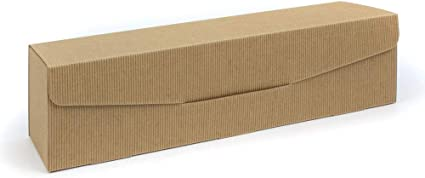Cajas de cartón para botellas con inserto para 1 botella de champán/vino, 360 x 85 x 93 mm, 9 unidades, color natural: Amazon.es: Oficina y papelería