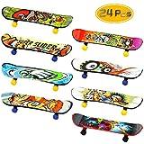 BeautyMood 24 pcs Professional Mini Finger Skateboard, Creative Fingertip Movement for Adults and Children (Random Mode).