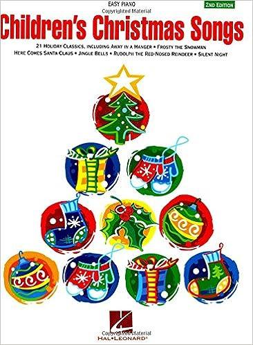 amazoncom childrens christmas songs 0073999225471 hal leonard corp books - Children Christmas Songs