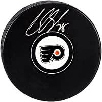 Claude Giroux Philadelphia Flyers Autographed Hockey Puck - Fanatics Authentic Certified - Autographed NHL Pucks