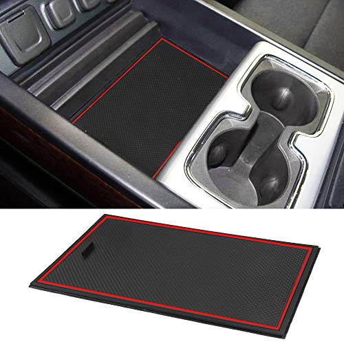 (ROCCS Secret Compartment Cover Center Console Organizer Tray Hidden Plate for 2014-2018 GMC Sierra 1500 2500HD 3500HD Denali Chevy Chevrolet Silverado )
