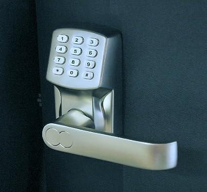 Electrónica sin llave cerradura de puerta Set - níquel satinado (Para Haga bisagras Sólo Puertas