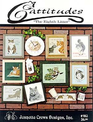 Jeanette Glass Patterns - Cattitudes - Eighth Litter - Cross Stitch Pattern