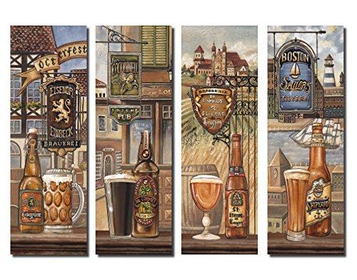 Beautiful Vintage American, German, Belgium, & Irish Beer Signs; Four (Fine Beer Pub Sign)