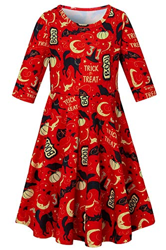 Scary Costumes Ideas For Kids - RAISEVERN Little Girls Half Sleeve Dress