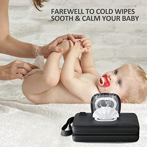 518MoQg - Portable-Baby-Wipe-Warmer Version 2.0,Leather Handbag Design,USB Cable Link To Portable Charger To Heat Wipes,Perfect For Travel Or On The Go,Diaper Change Snugly For Infant