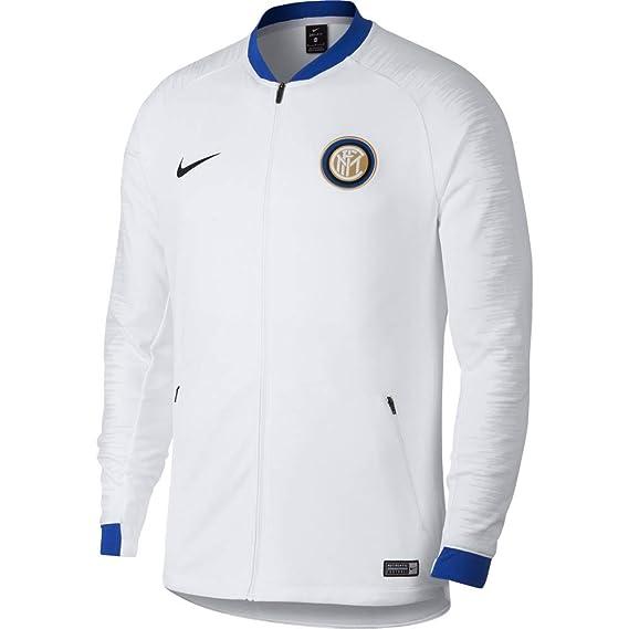 73f201862 Nike - Inter Milan 2018-19 Men's Anthem Jacket - Size Medium White/Blue:  Amazon.co.uk: Clothing