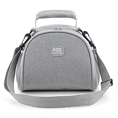 GUANCANGHAI Gray Lunch Bag for Men Women Lunch Bag Tote Bag Lunch Bag for Women Lunch Box Insulated Lunch Container: Kitchen & Dining