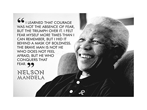 Nelson Mandela Photo (The Art Stop Quote Learned Courage Nelson Mandela Print F12X3685)