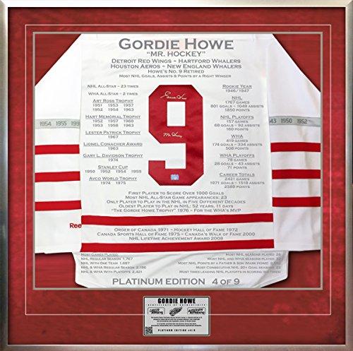 Gordie-Howe-Platinum-Edition-Career-Jersey-Signed-Ltd-9-Detroit-Red-Wings