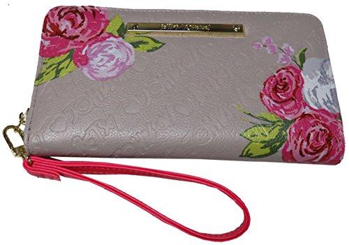 Betsey Johnson Women's Z/A Wristlet/Wallet, Grey (Johnson Betsey Card Holder)