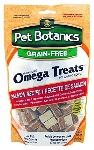 Pets Healthy Skin (Pet Botanics Grain Free Healthy Omega Treats for dogs. Salmon, 12-Ounce)