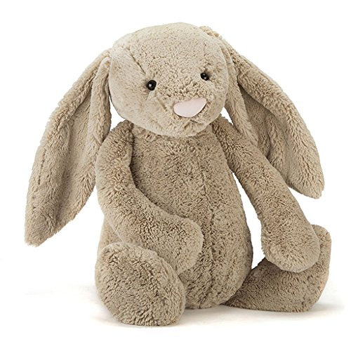 Jellycat Bashful Beige Bunny Stuffed Animal, Large, 15 inches